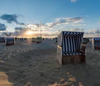 Strandkörbe am Wangerooger Sandstrand
